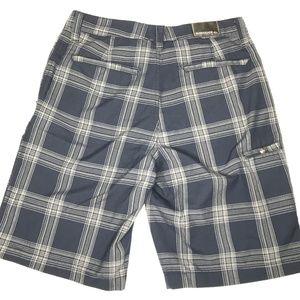 Quiksilver Shorts - Quiksilver Flat Front Plaid Skater Shorts A170445
